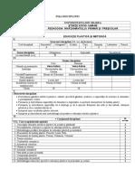 FI+A DISCIPLINEI Ed. plastica si metodica.doc