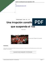 Una Irrupción Constituyente Que Suspenda El 155