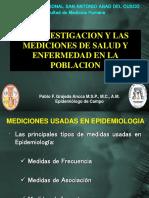 Medicion en Salud Tasas Razon4s Proporciones Media Mediana Desviacion Estandar