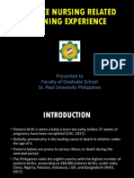 Advance Nursing Related Learning Experience