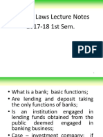 Banking Laws Lecture Notes 2017-18 1Sem 20170622