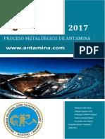 Proceso Metalúrgico de Antamina