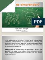 Generalidades del Emprendedurismo