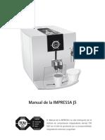Manual de Instrucciones JURA IMPRESSA J5 Modo de Empleo JURA IMPRESSA J5