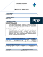 Anatomía Humana II - Programa Académico