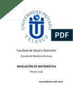 Nivelacion de Matematica 2016 I