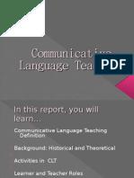 Communicative Language Teaching Present Are