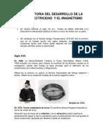Historia Del Desarrollo de La Electricidad y El Magnetismo