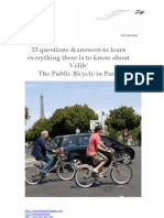 The Velib in Paris:33 questions