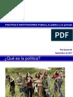 Política, Lo Público y Lo Privado