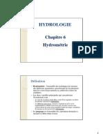 Hydrologie_msi Ch6 Hydrométrie
