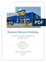 Business Decision Modeling - METRO