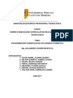 Programación Curricular - De Un MÓDULO FORMATIVO