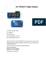 User Guide for TM1637 4 Digits Display
