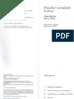 Filosofía y Actualidad - Slavoj Zizek, Alain Badiou
