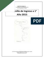 Cuadernillo Ingreso a 1° Año 2015