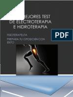 Los Mejores Test de Electroterapia e Hidroterapia