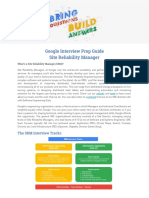 [Google Interview Prep Guide] Site Reliability Manager (SRM) (1)