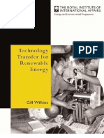 Gill Wilkins Technology Transfer for Renewable Energy Overcoming Barriers in Developing Countries
