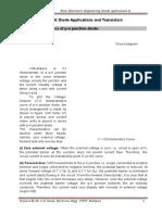 Electronics_Diode Applications & Transistors