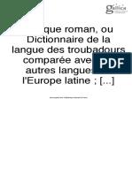 Raynuard, Lexique, t. 4
