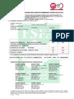 Solicitud de Inscripción Bomberos Forestales 2017