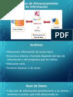 Sistemas de Almacenamiento de Información