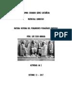 AA 2 Historia Del Pesamiento Pedagogico