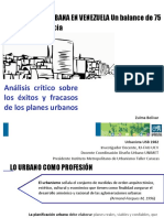 DIAPOSITIVAS ))((PLANIFICACION URBANA EN VENEZUELA))((ARQ. VICTOR FOSSI, 27 DIAPOSITIVAS.docx