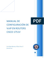 Manual de Configuracion de Voip en Routers Cisco 1751v