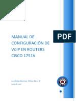Manual de Configuracion de Voip en Routers Cisco 1751v