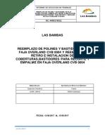 Informe de Polines y Bastidores Del Stacker Faja Overland CVB0004 - 16-08-2017