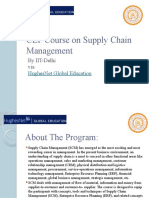 CEP Course on Supply Chain Management