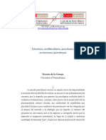 De La Campa Literatura, Neoliberalismo, Poscolonia