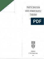 Pateman-participación y teoría democrática