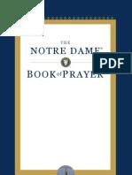 Notre Dame Book of Prayer - excerpt