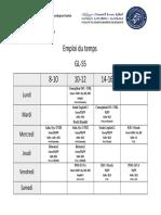 Emploi Du Temps GL S3 S5 2017-2018
