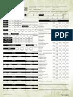 Pathfinder - Hoja de Personaje
