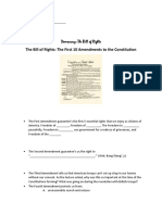 The Bill of Rights Guided Notes Worksheet