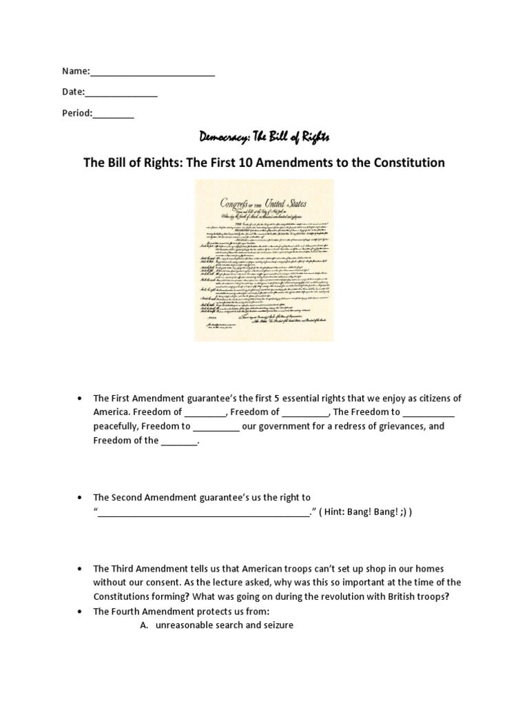 worksheet English Bill Of Rights Worksheet the bill of rights guided notes worksheet united states sixth amendment to constitution