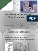 U4 - Clase 1 - Materiales Cerámicos