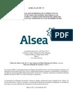 Alsea Reporte Anual Bmv 2016