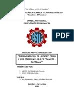Perfil Proyecto Hotspot, Web Cache
