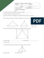 Exercícios Sobre Triângulos