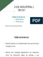 Presentación PDF- Primera Ley de La Termodinámica