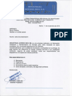 1.- Carta de Presentación