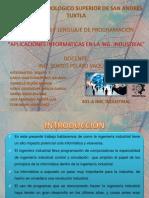 Aplicaciones Informaticas de La Ing Industrial