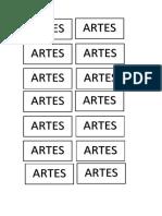 Etiqueta de Artes