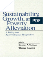 Sustainability, Growth, And Poverty Alleviation a Policy and Agroecological Perspective