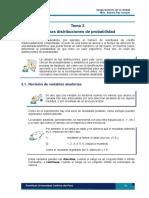 TEMA 3 Algunas Distribuciones de Probalidad